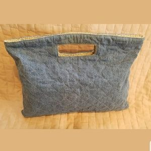 💥SALE💥Chanel Denim Quilted Tweed Clutch Limited
